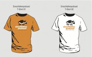 Entwurf Einschlafen Podcast T-Shirts