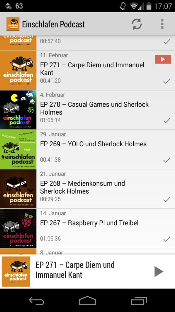 Die Einschlafen Podcast App
